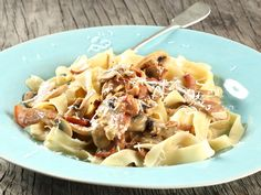 Bacon and mushroom pasta. Serve with a sprinkle of Parmesan for a super easy but oh-so-delicious meal. PHOTO: Megan Miller