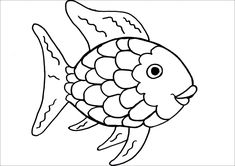 printable the rainbow fish coloring page the rainbow