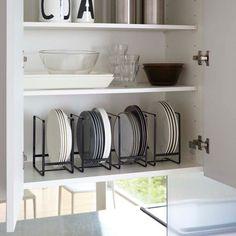 Yamazaki Home Tower Dish Storage Rack - Large/Narrow - White