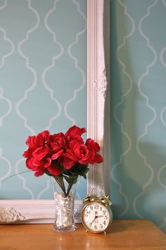 A Stenciled Wall (or two)! | All Things Beautiful