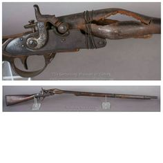Exploded Musket From The Battle Of Gettysburg. A Civil War exploded musket from the battle of Gettysburg. This is the result of overloading a musket. In combat muskets would sometimes misfire from black powder residue buildup. Soldiers would pick up a musket or rifle from a fallen comrade when their musket jammed. If the musket was already loaded when picked up and the soldier loaded it a second time an exploded musket is the result in some cases. This musket is a testament to the fierce…