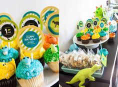Dinosaur Cupcake Toppers, Dinomite Party, Dinosaur Birthday, Boys Dino Theme…
