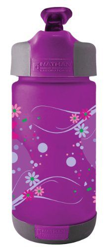 Amazon.com: Nathan Kid's 320ml Whimsical Flowers Tritan Cylinder Bottle with Flip Straw, Purple: Sports & Outdoors