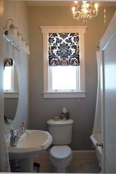 Bathroom window treatments (Roman shades)