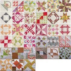 Farmer's wife quilt sampler mosaic