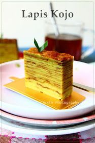 Kimkim patisserie: Lapis Kojo Indonesian Desserts, Asian Desserts, Indonesian Food, Indonesian Recipes, Cake Roll Recipes, Dessert Recipes, Cake Cookies, Cupcake Cakes, Food Cakes