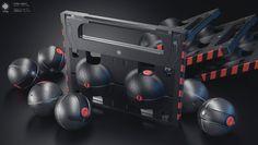 ArtStation - Gravity grenade / transport casing, Klaudio Ladavac