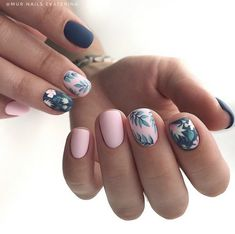 – Trending Summer Nail Designs For Short Nails – Nail Art Connect – Nail Art Ideas 2020 Cute Acrylic Nails, Acrylic Nail Designs, Cute Nails, Pretty Nails, Nail Art Designs, Gel Nails, Nails Design, Nail Polish, Nail Nail