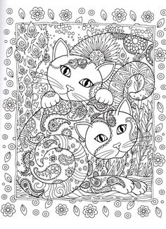 Cat Coloring Book for Adults Best Of Creative Cats Coloring Page Dover Abstract Doodle Zentangle Coloring Pages Colouring Adult Cat Coloring Page, Animal Coloring Pages, Coloring Pages To Print, Coloring Book Pages, Coloring For Kids, Printable Coloring Pages, Coloring Sheets, Mandalas Painting, Mandalas Drawing