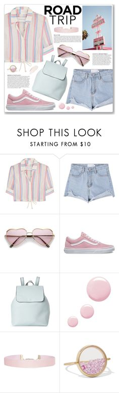 """""""Road Trip Style"""" by myduza-and-koteczka ❤ liked on Polyvore featuring Solid & Striped, American Apparel, Vans, Street Level, Anja, Topshop, Humble Chic and Aurélie Bidermann"""
