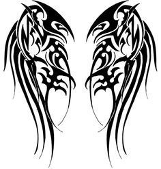 Google Image Result for http://fc09.deviantart.net/fs47/f/2009/236/4/a/Tribal_Wings_by_Velveteeniris.jpg