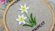 I have taught hand embroidery for beginners all over the UK. Embroidery Patterns, Hand Embroidery, Daffodils, Kids Rugs, Stitch, Decor, Needlepoint Patterns, Full Stop, Decoration