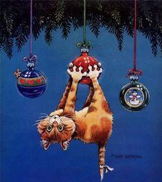 Christmas kitty, Gary Patterson (531x599, 218Kb)