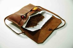 Vintage Style Handmade Leather Tobacco Pouch via www.elfbread.com