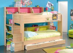 etagenbetten kinderzimmer einrichten ideen schubladen regale