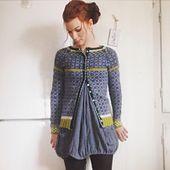 Ravelry: Project Gallery for Wiolakofta pattern by Kristin Wiola Ødegård Fair Isle Knitting, Knitting Yarn, Free Knitting, Knitting Patterns, Only Cardigan, Norwegian Knitting, Cardigan Design, How To Purl Knit, Knitted Shawls