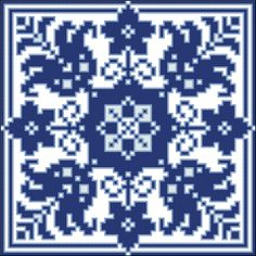 Square 64 | Chart for cross stitch or filet crochet.