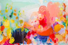 """""""Settle Down"""" by Claire Desjardins. 40""""x60"""" - Acrylics on canvas."""