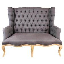 Grey leather french Sofa!