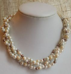 Check out this item in my Etsy shop https://www.etsy.com/ca/listing/208159406/handmade-multicolor-faux-pearl-three