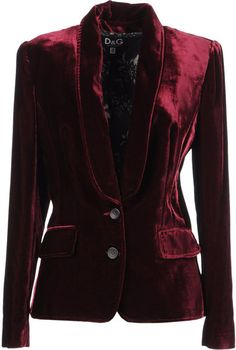 D VELVET CRUSH Blazer - Lyst...WOULD LOOK GREAT WITH A PAIR OF BLACK LEATHER PANTS.....