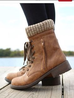 Cuffed Sweater Boots