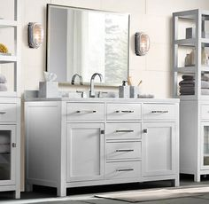 The Rh Hutton Vanity Is Easily Imitable See Low Cost Options Below Restoration Hardware Bathroomwhite