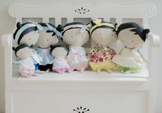 Tilda dolls from Tilda's Toy Box Toy Boxes, Dolls, Sewing, Baby Dolls, Dressmaking, Puppet, Toy Chest, Doll, Sew