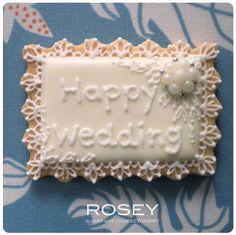 "LACY COOKIE  ""HAPPY WEDDING"" by rosey sugar, via Flickr"