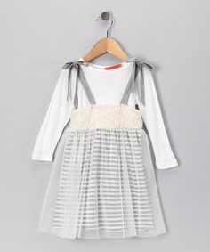 Can't get any more adorable than this dress!   Ivory Heather Gray Floral Dress - Toddler & Girls by Funkyberry on #zulily today!