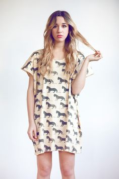 Panther Print Dress by Leah Goren