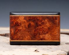 Exotic Wood Belt Buckle - Handmade with Amboyna Burl