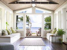 Sunroom - From Dump to Dreamy Beach House on HGTV