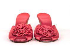 1940s boudoir slippers // daniel green // size 8N by BexVintage, $35.00