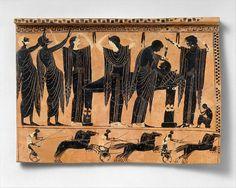 Terracotta funerary plaque, 520-510 B.C., Greek/Attic, The Metropolitan Museum of Art