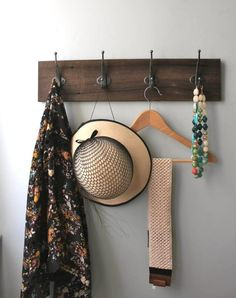Wall Mounted Jewelry Organizer Scarf Holder Coat Rack Wall