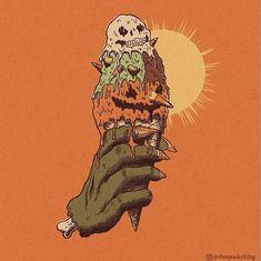 Cute Halloween Drawings, Halloween Artwork, Retro Halloween, Halloween Inspo, Halloween Horror, Halloween Pumpkins, Fall Halloween, Creepy Halloween, Halloween Party