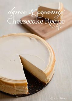 i love cheesecake and this sour cream topped dense and creamy recipe is the best you'll ever have