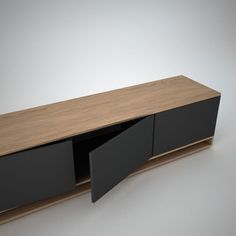 Mid-century modern Harlem Low Sideboard Anthracite Join Furniture Sauna Room Packages Make Const Sideboard Modern, Low Sideboard, Credenza, Living Room Tv Unit Designs, Rack Tv, Tv Wall Decor, Tv Wall Design, Tv Furniture, Home Tv