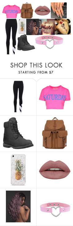 """""""To school"""" by mary-824 ❤ liked on Polyvore featuring adidas Originals, Alberta Ferretti, Timberland and Herschel Supply Co."""