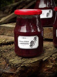 Gooseberry jam / dżem z agrestu Ketchup, Bottle, Cooking, Recipes, Food, Kitchen, Flask, Recipies, Essen
