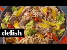 Best Ramen Noodle Skillet with Steak - How to Make Ramen Noodle Skillet with Steak