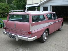 1959 pink rambler wagon-Pretty Sure Hello Kitty would have drove this in 1959