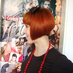 short naped bob in red