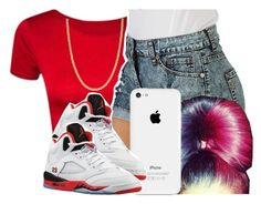"""""""Red, White, and Black"""" by destinylove66 ❤ liked on Polyvore featuring Retrò and Giani Bernini"""