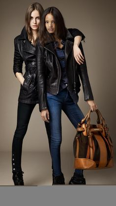 Burberry leather jackets :D