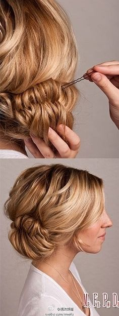 This side hair style is super easy to do... I love it for ...