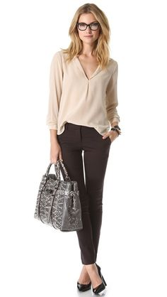 Rory Beca Fleet Blouse - FrontDoorFashion.com - Professionally styled outfits delivered straight to your door!