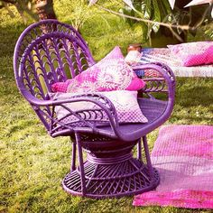 Love this chair! #purplechair #outdoorfurniture... | Wicker Blog  wickerparadise.com