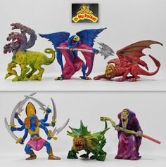 Monster In My Pocket - 2nd Gen 2006 - The Ancients - Complete set of 6 figures